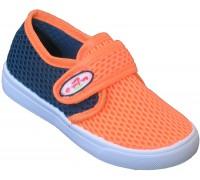 Кеды детские «Шалунишки» синие с оранжевым