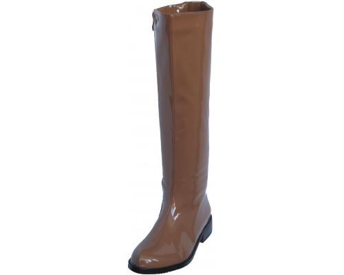 Сапоги лаковые «Sity Bisma», коричневые
