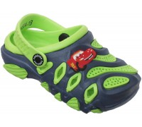 Кроксы «Совенок» синие с зеленым
