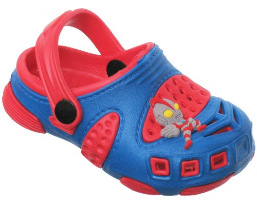Сандали пляжные детские «Совенок» синие с красным