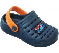 Сандали пляжные детские «Совенок» темно-синие с оранжевым