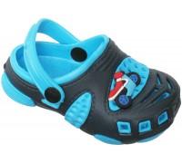 Сандали пляжные детские «Совенок» темно-синие с голубым