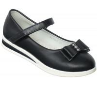 Туфли школьные, для девочек «Совенок» темно-синие
