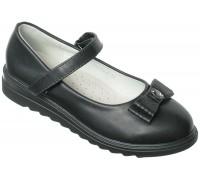 Туфли школьные, для девочек «Совенок» черные
