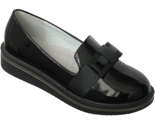 Туфли «Совенок» черный лак