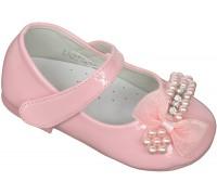 Туфли праздничные «Совенок» розовые