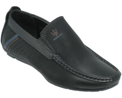 Мокасины школьные для мальчиков «Tuoluo» черные
