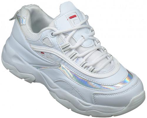 Кроссовки подростковые «Загадка - Skechers» белые