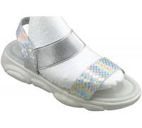 Босоножки детские для девочек «Ana.R» серебро
