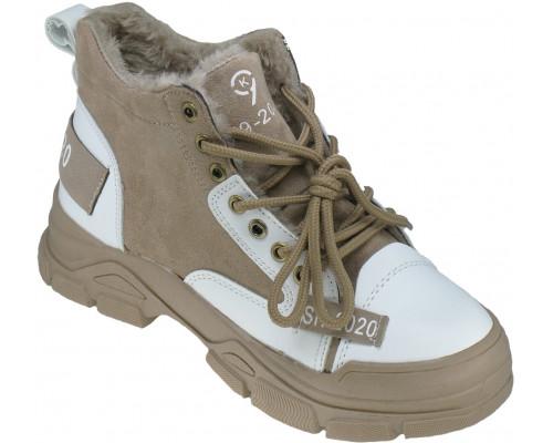 Ботинки зимние, женские «Ana.R» бежевые