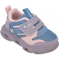 Кроссовки детские на светящейся подошве «B&G» розовые