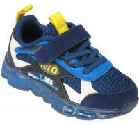 Кроссовки детские на светящейся подошве «B&G» синие