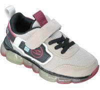 Кроссовки детские на светящейся подошве «B&G» бежевые