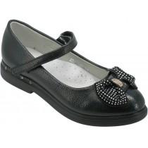 Туфли школьные для девочек «B&G» черные