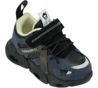 Кроссовки детские мигающие «B&G» черные