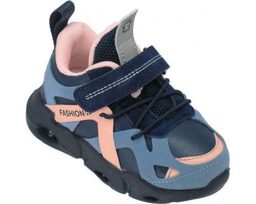 Кроссовки детские мигающие «B&G» синие