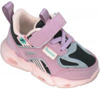 Кроссовки детские мигающие «B&G» розовые