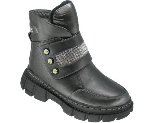 Ботинки зимние детские для девочек «B&G» серые