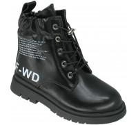 Ботинки демисезонные для девочек «B&G» черные