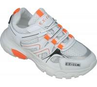 Кроссовки подростковые «EX-tim» белые с оранжевым