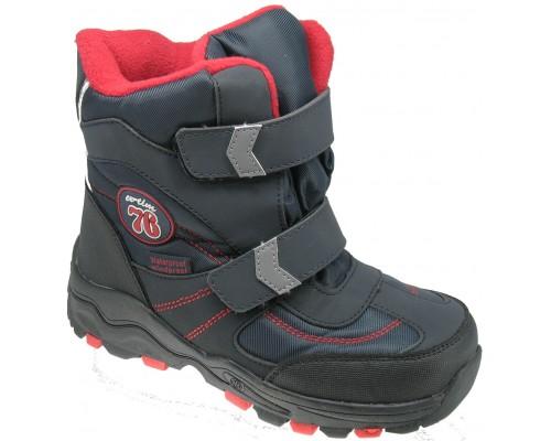 Ботинки детские, зимние для мальчиков «EX-tim» синие