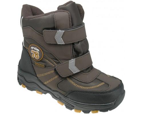 Ботинки детские, зимние для мальчиков «EX-tim» коричневые