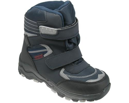 Ботинки детские, зимние для мальчиков «EX-tim» темно-синие