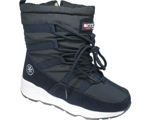 Ботинки зимние, подростковые «EX-tim» синие