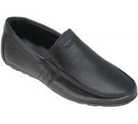 Мокасины школьные для мальчиков «HaoshijinBA» черные