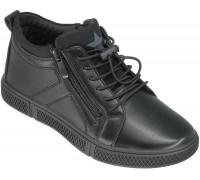 Ботинки демисезонные, подростковые «Lipude» черные
