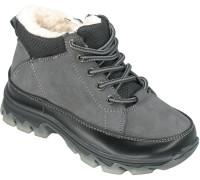 Ботинки зимние, детские для мальчиков «Lipude» серые