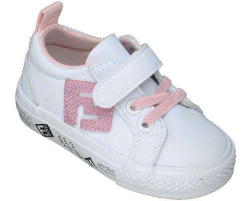 Кеды детские «M-star» белые с розовым