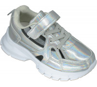 Кроссовки детские, облегченные «M-star» серебро