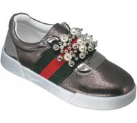 Туфли детские для девочек «Мышонок» бронза