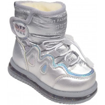 Сапоги зимние детские, для девочек «Paliament» серебро
