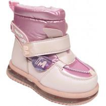 Сапоги зимние детские, для девочек «Paliament» розовые