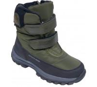 Ботинки зимние детские «Paliament» зеленые
