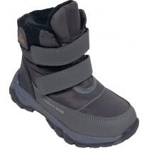 Ботинки зимние детские для мальчиков «Paliament» серые