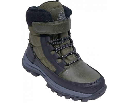 Ботинки зимние детские для мальчиков «Paliament» зелёные