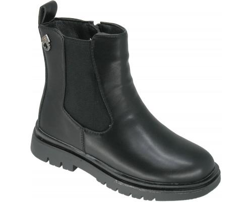 Ботинки демисезонные детские для девочек «Paliament» черные