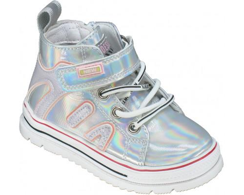 Ботинки демисезонные детские для девочек «Paliament» серебро