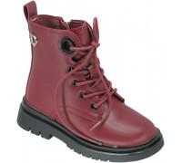 Ботинки демисезонные для девочек «Paliament» красные