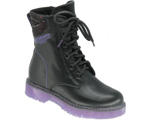 Ботинки демисезонные для девочек «Paliament» черные