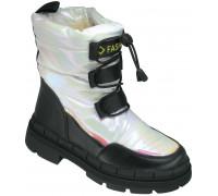 Ботинки зимние детские, для девочек «Paliament» белый перламутр