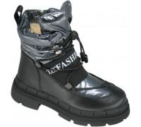 Ботинки зимние детские, для девочек «Paliament» серый перламутр