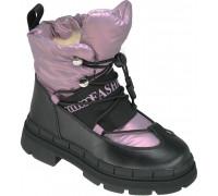 Ботинки зимние детские, для девочек «Paliament» сиреневый перламутр