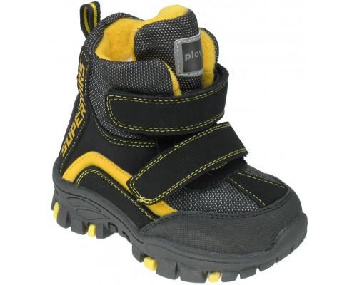 Ботинки зимние детские, для мальчиков «Paliament» чёрные