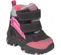 Ботинки зимние детские, для девочек «Paliament» с малиновым