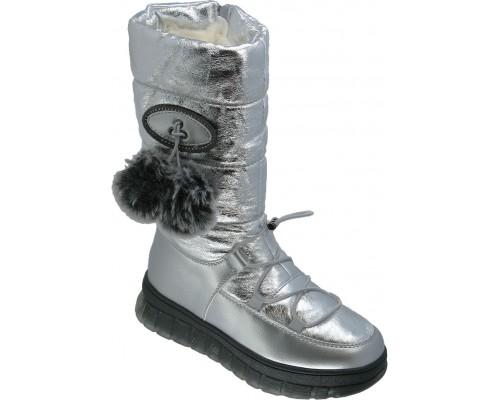 Сапоги зимние для девочек «Песня-Paliament» серебро