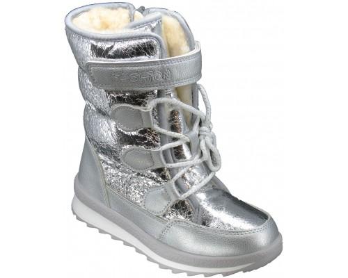 Сапоги зимние, детские «Песня-Paliament» серебро